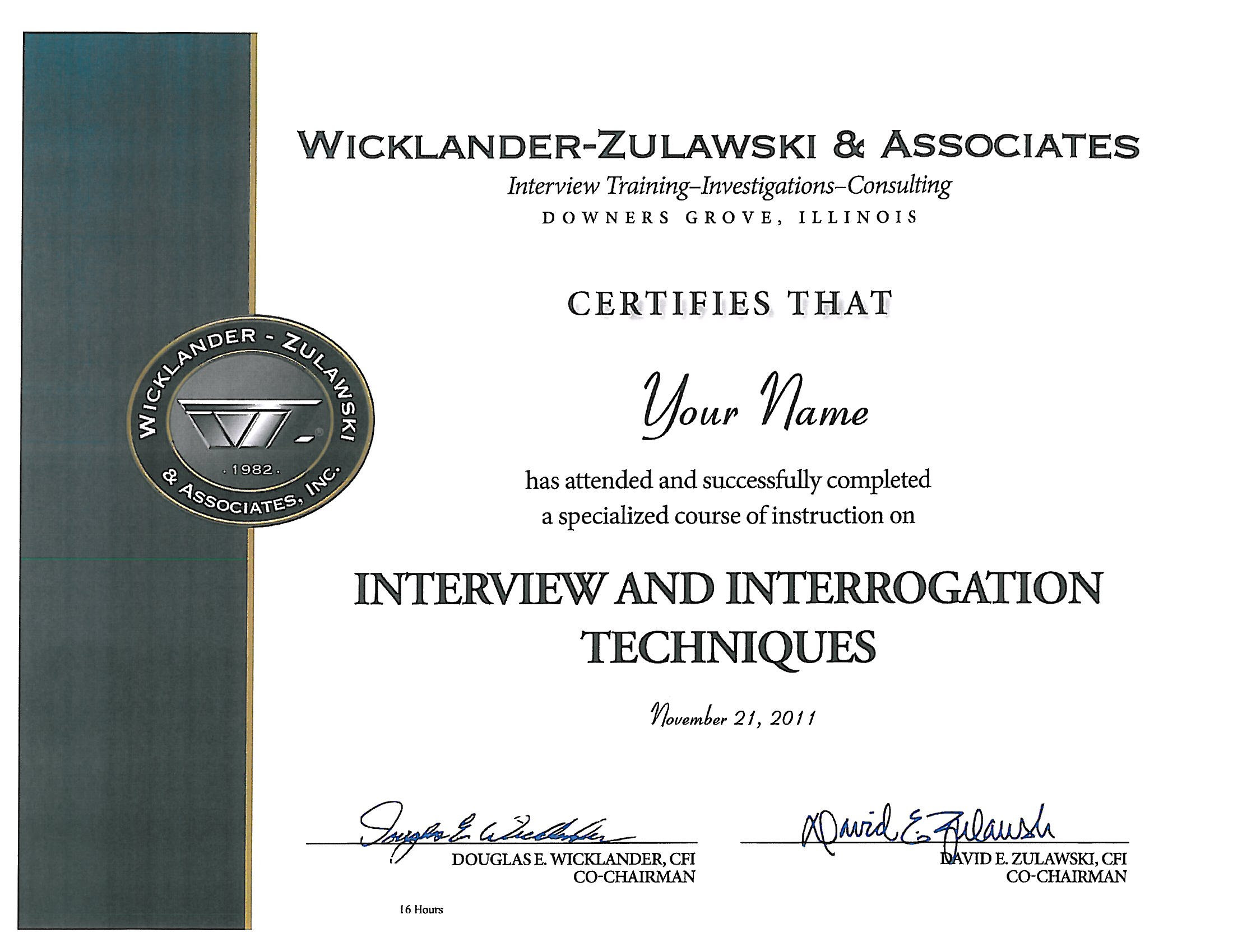 Wz certified wicklander zulawski have completed wz training courses throughout their careers these certificates do not certify expertise in the techniques taught at the seminar xflitez Image collections